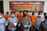 Polda Sulawesi Utara Ungkap 5 Kasus Narkoba dalam 11 Hari