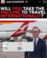 Kelompok Anti Vaksin Protes Rencana Vaksinasi Penerbangan Qantas
