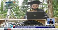 Penuhi Janji, Nadif Pilih Wisuda Online di Depan Makam Ayah