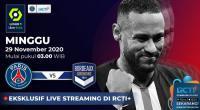Live Streaming PSG vs Bordeaux Bisa Disaksikan di RCTI+