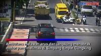 Bawa Pasien Kritis, Ambulans Covid-19 Tabrak Polisi di Banyuwangi