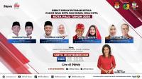 Live di iNews Malam Ini Pukul 19.30 WIB: Debat Pilkada Palu, Perempuan Berebut Kota 5 Dimensi