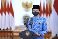 HUT 49 Korpri, Jokowi Tegaskan Jiwa ASN Harus 'Merah Putih'