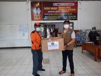 Erupsi Gunung Ile Lewotolok, BNPB Salurkan Bantuan 4 Ribu Masker Kain