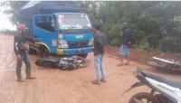 Jalan Provinsi di Lebak Penuh Lumpur Sebabkan Banyak Kendaraan Tergelincir
