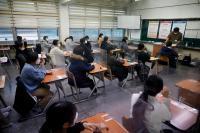 Di Kelas dan RS, Siswa Korsel Ikuti Ujian Masuk Universitas di Tengah Pandemi Covid-19