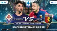 Live Streaming Fiorentina vs Genoa di RCTI+