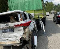 Foto Detik-Detik Wakil Ketua DPD Mahyudin Alami Kecelakaan