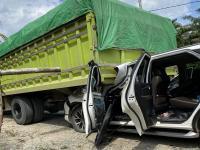 Sopir Truk Mengantuk Diduga Jadi Penyebab Mobil Mahyudin Ringsek Tertabrak