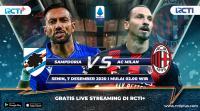 Live Streaming Sampdoria vs AC Milan Bisa Disaksikan di RCTI+