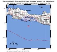 Gempa M 4,7 Guncang Pangandaran, Terasa hingga Tasikmalaya