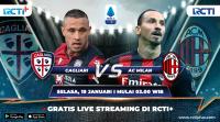 Live Streaming Cagliari vs AC Milan Bisa Disaksikan di RCTI+