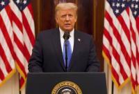 Frustasi Diblokir, Trump Singgung Twitter di Pidato Perpisahannya