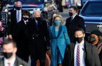 Selesaikan Parade Inaugurasi dengan Jalan Kaki, Biden Tiba di Gedung Putih