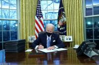 Hari Pertama Masuk Gedung Putih, Biden Langsung Tandatangan Perintah Eksekutif Tolak Kebijakan Trump