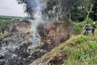 Warga Lihat Benda Misterius Terbang Sebelum Ledakan Dahsyat di Mojokerto