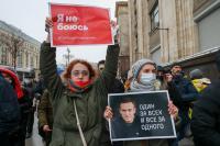 Ribuan Demonstran Pendukung Navalny Ditangkap di Rusia