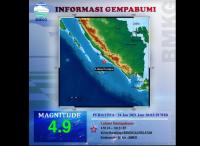Gempa M4,9, BPBD Bengkulu : Belum Ada Laporan Kerusakan