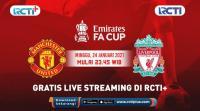 Jadwal Siaran Langsung Piala FA Man United vs Liverpool di RCTI