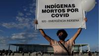 Ribuan Warga Turun ke Jalan Protes Lambatnya Penanganan Covid-19 di Brasil