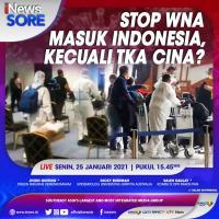 """iNews Sore"""" Live di iNews dan RCTI+ Senin Pukul 15.45: Stop WNA Masuk Indonesia, Kecuali TKA China?"""