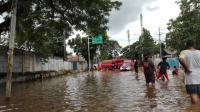 Diguyur Hujan, Kawasan Gandaria Jaksel Tergenang Banjir