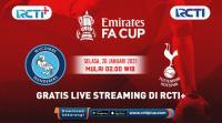 Live Streaming Wycombe vs Tottenham Hotspur Bisa Ditonton di RCTI+