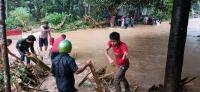 Sungai Kali Paruk Meluap, Kabupaten Banyumas Banjir