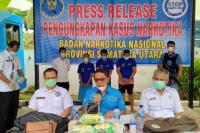 BNNP Sumut Ungkap Pengiriman Paket Pisang Salai Berisi Sabu-Sabu