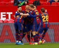 Hasil Liga Spanyol: Barcelona Gilas Sevilla, Valencia Babak Belur
