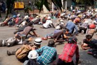 Pasukan Keamanan Tembaki Demonstran Anti-Kudeta Myanmar, 9 Orang Tewas