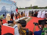 Groundbreaking Masjid Agung Sheikh Zayed, Menag Harap Pembangunan Berjalan Lancar