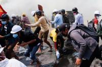 2 Demonstran Antikudeta Myanmar Tewas Ditembak di Kepala, Toko-Toko di Yangon Tutup