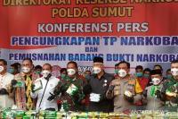 Polda Sumut Musnahkan 205 Kilogram Sabu
