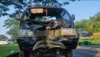 Kecelakaan Pikap vs Motor di Cisauk Tangerang, 1 Orang Tewas