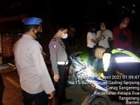 Patroli Cegah Sahur On The Road, Polres Tangsel Tahan 4 Motor Bodong.