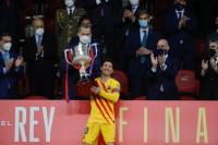 Barcelona Juara Copa del Rey, Lionel Messi Pemain Kedua Terbanyak Raih Trofi