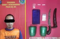 Pengedar Narkoba di Kalsel Melawan, Seorang Polisi Kena Sabetan Pisau
