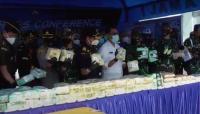 TNI AL Gagalkan Penyelundupan 100 Kg Sabu dari Malaysia di Perairan Asahan
