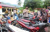 Polres Enrekang Amankan Belasan Motor Balap Liar saat Ramadhan