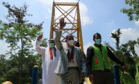 Bulan Sabit Merah UEA Bangun Jembatan Gantung di Lebak