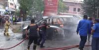 Bawa 14 Jeriken Isi BBM, Mobil Terbakar di Depan SPBU