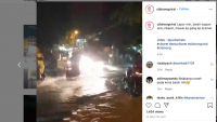 Cibinong Bogor Dikepung Banjir, Ketinggian Air Selutut Orang Dewasa