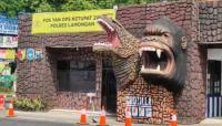 Larangan Mudik, Polres Lamongan Dirikan Pospol Godzila vs Kong