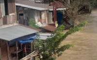 Sungai Deli meluap, Banjir Dua Meter Rendam Rumah Warga