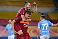 AS Roma Bekuk 10 Pemain Lazio di Stadion Olimpico