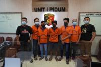 Kerap Berulah, 5 Preman Pemalak Sopir Truk Kawasan Pantura Jatim Ditangkap