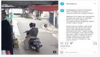 Pemotor Curi 2 Smartphone Penjual Warung Terekam CCTV