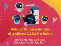 Pengen Lancar Bahasa Inggris? Belajar Pakai Aplikasi CAKAP, Ada Promo Rp1 dengan MotionPay!