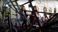 Kubah Masjid di Rangkasbitung Ambruk, Nyaris Timpa Jamaah Sedang Sholat